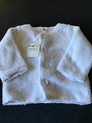 Baby Girls Baby Patch White Fluffy Button Up Jacket by Pumpkin Patch 12 - 18m