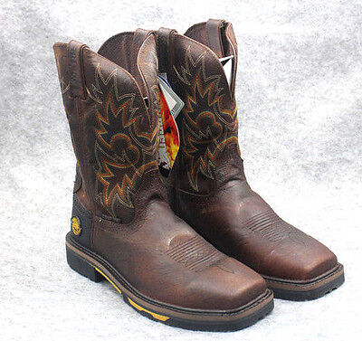 NIB Men's Justin Hybred Waterproof Composite Safety Square Toe Cowboy WORK Boot