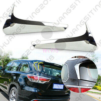 Fit For Toyota Highlander Kluger 2015-2016 Chrome Mirror Rear Window Trim Cover