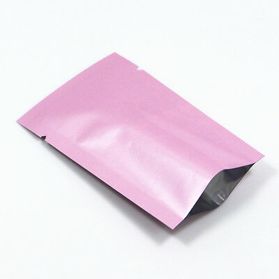Pink Aluminum Foil Bags Heat Seal Smell Proof Mylar Food Package Vacuum Pouches