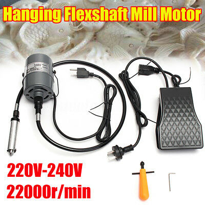 220-240V 4mm Hanging Flexshaft Mill Motor For Jewelry Design & Repair Tools Kits
