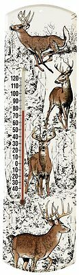 Heritage America by MORCO 375WD Whitetail Deer Outdoor or Indoor Thermometer,