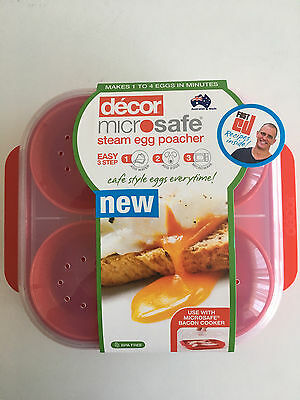 Decor Steam Egg Poacher Brand New Food Container Microwave Safe