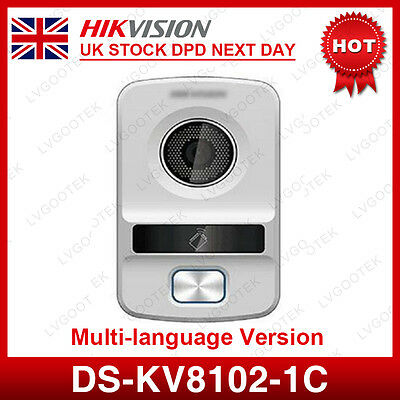 UK Stock Hikvision DS-KV8102-1C HD Visual intercom doorbell waterproof Doorphone