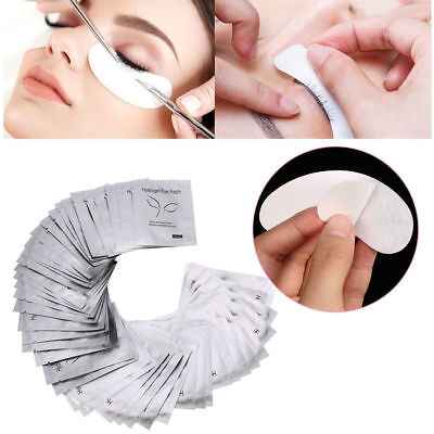 50 Pairs Under Eye Gel Patch Lint Free Eyelash Pad Lash Extension Beauty Tool