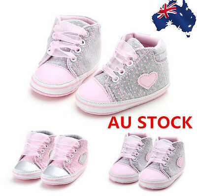 For 0-18 Months Baby Crib Shoes Newborn Pink Heart Ankle Boots  Toddler Shoes