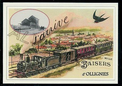 OLLIGNIES   .... train  souvenir  creation moderne serie limitee numerotee