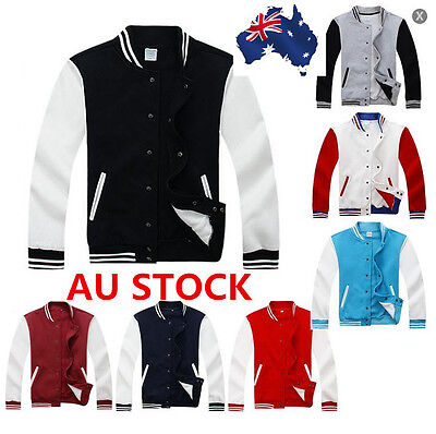 Mens Fashion Varsity Jacket College University Letterman Baseball Coat Outfits