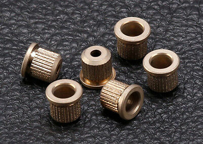 Gotoh Guitar String Ferrules w/Lip • Nickel • Aged / Relic (6)