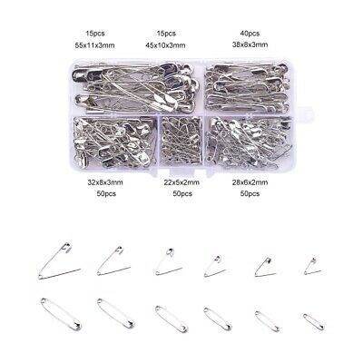 Iron Safety Pins Sets Platinum Mixed Size Sewing Pins for Quilting and Knitting