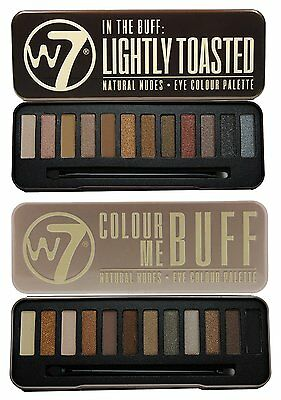 Eye Shadow W7 In the Buff Palette Lightly Toasted Shades Beauty Makeup Set