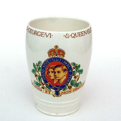 Good COMMEMORATIVE pottery MINTONS 1937 GEORGE VI Coronation BEAKER/MUG