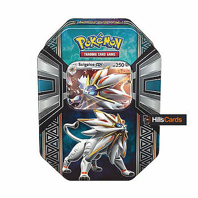 Pokemon Solgaleo GX Spring 2017 Collectors Tin: Booster Packs + Promo Card