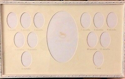 NEW Pottery Barn Antique White First Year Frame 24 x 14