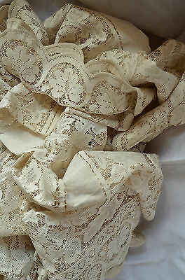 Vintage French lace curtain panel, unused