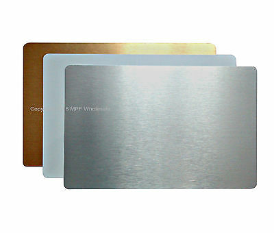 Blank Aluminium Metal Sheets Small Signs 60x40mm Dye Sublimation Printing