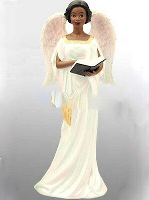 Devotion Angel Figurine:  African American  NEW (17721) 9 Inches Tall