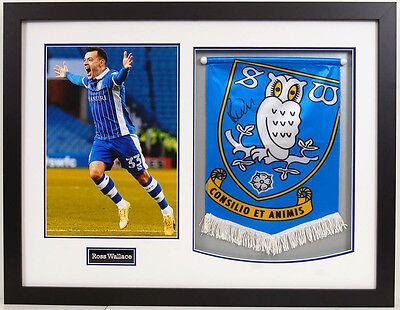 Ross WALLACE Signed Autograph FRAMED Sheffield Wednesday Pennant AFTAL COA