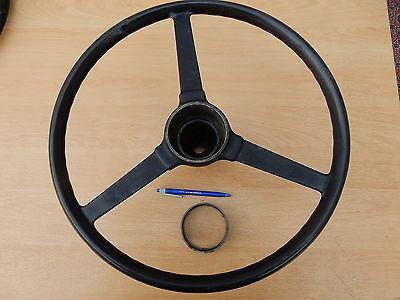1946 wolseley 14/60 3 spoke steering wheel with centre ring very good condition