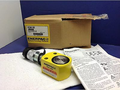 ENERPAC RSM-100 NEW! Hydraulic Cylinder, 10 tons, 7/16in. Stroke USA Made!