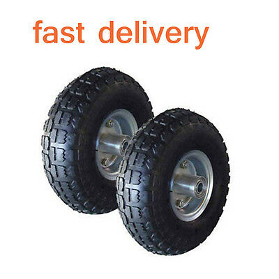 2 x REPLACEMENT 10 INCH PNEUMATIC SACK HAND TRUCK TROLLEY WHEEL BARROW TYRE NEW
