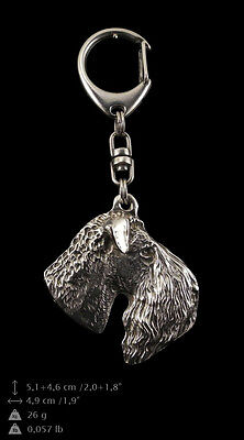 Kerry Blue Terrier, silver covered keyring, high qauality keychain Art Dog