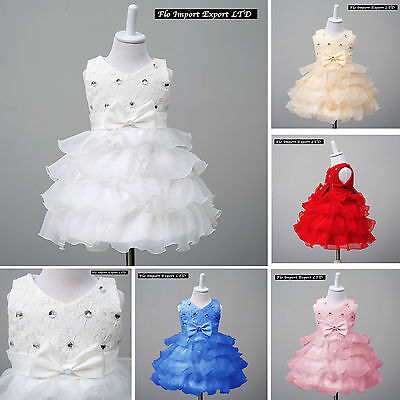 Vestito Bambina Abito Cerimonia Battesimo Girl Party Princess Dress CDR055