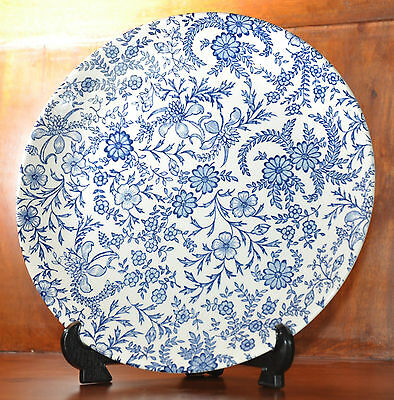 Vintage blue and white Unmarked Plate Unknown origin (1191)