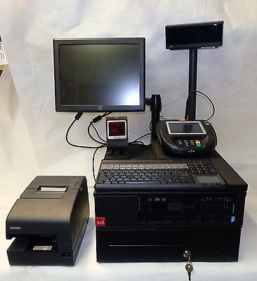 DELL POS System w/ Touch Screen, Printer, Card Swipe, Scanner, Cash Drawer, B7
