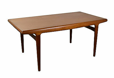 Danish Mid-Century Modern Teak Dining Table Concealed Leaves Johannes Anderson