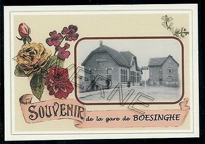 BOESINGHE - gare souvenir creation moderne - serie limitee numerotee