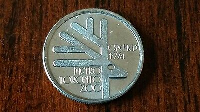 4 Toronto Tokens Including 1974 Zoo Opening