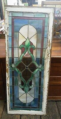 c. 1890 Antique Old Leaded Stained Glass Window