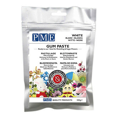 PME Gum Paste Ready to use Flowers Sugarcraft Cake Decorating 200g All Colours