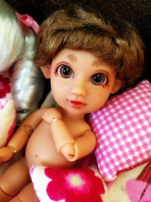 BJD Dollfie Elf Tiny Verse Tan Skin Basic w/ Eyes, Wig   ABJD (puki Lati Pipos)