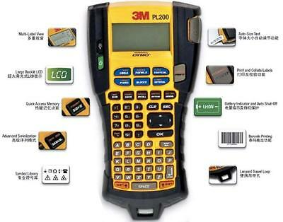 3M PL200 Portable Labeler with 1 Vinyl Refill, User Guide, and Quick Reference