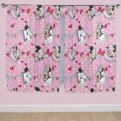 "MINNIE MOUSE 'CAFE' 66"" x 54"" CURTAINS NEW matches duvet DISNEY"