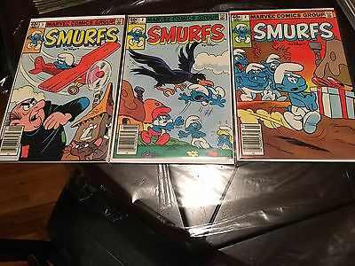 The Smurfs Comic Books Number's 1-3 1982 Marvel Comics