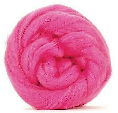 Pink Merino Wool dyed fibre roving / tops - 50g - wet felting needle felting