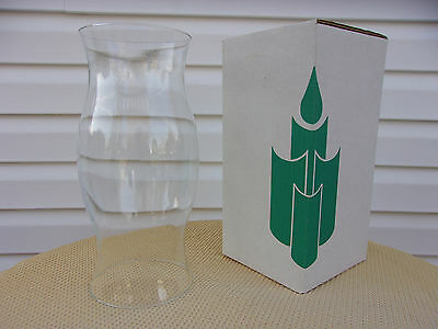 """Partylite Brand Large Hurricane Glass Globe Candle Shade 11 1/2 """" New In Box"""