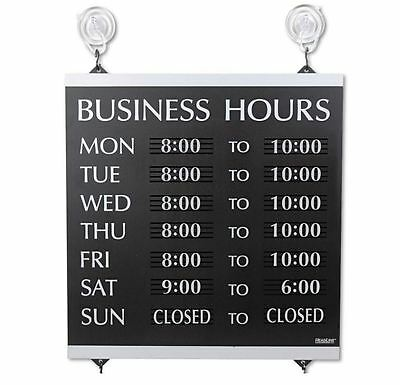 Window Mount Hours Of Operation Sign Indoor Business Hours Sign w/ Week Days New