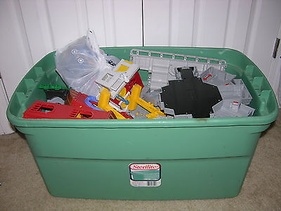 Geotrax  Fisher Price lot of Trains, Tracks, Buildings, Accessories