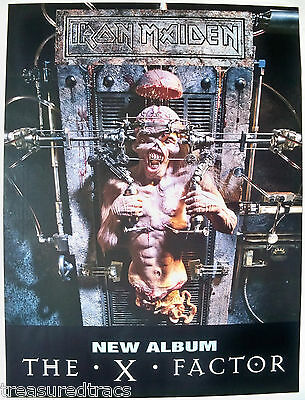 Original 1995 UK Iron Maiden X Factory Promo Poster Heavy Metal Eddie NOS