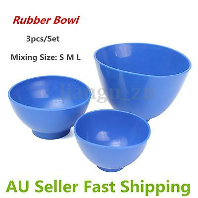 3X Dental Lab Rubber Thicken Mixing Bowl Medical Accessaries Equitment Tools
