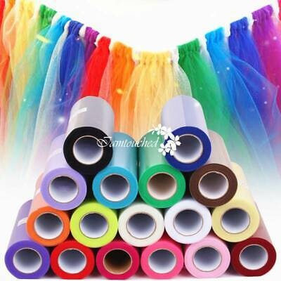 "6"" 25Yds Tutu Tulle Roll Spool Wedding Party Gift Wrap Fabric Craft Decorations"