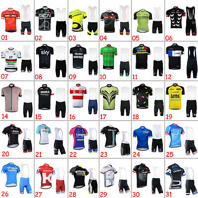 2018 Mens Bike Cycling Shirt Knicks Set Riding Jersey Bib Shorts Pad Tights Kits