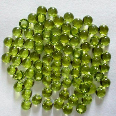 Wholesale Lot 15 Pcs Natural Peridot 5X5 Mm Shape Round Loose Gemstone Cabochon