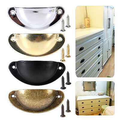 10Pcs Kitchen Antique Shell Pull Handle Cupboard Door Cabinet Drawer Furniture
