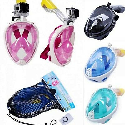 Hot Breath Underwater Tools Scuba Full Face Diving Mask Snorkel Swimming Goggles