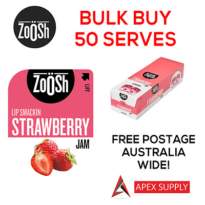 Zoosh Strawberry Jam Portion Control Single Serve 50 x 13.6g BULK KRAFT